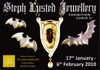 Steph Lusted Jewellery Curio II Exhibition Postcard