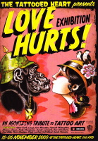 Love Hurts Exhibition Postcard