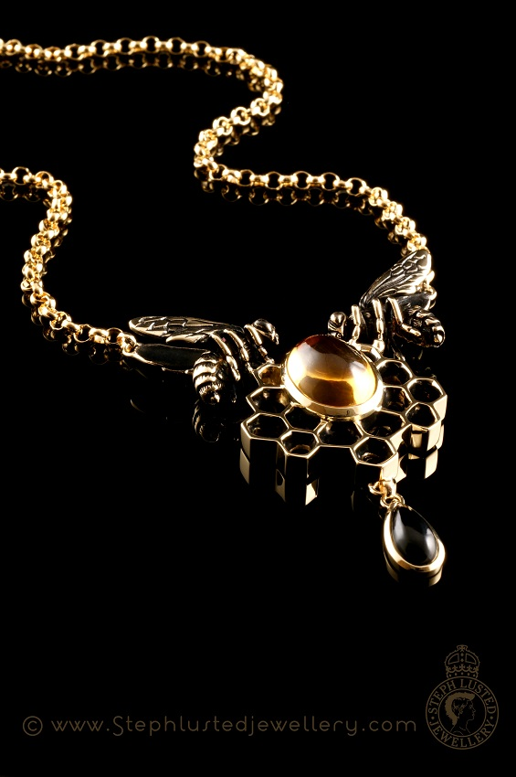 Double_Honeybee_Necklace_StephLustedJewellery