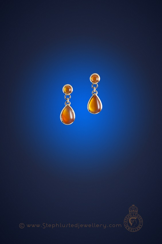 Fire_Opal_&_Carnelian_Drop_Earrings