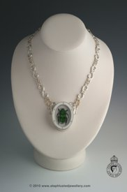 Green Beetle Necklace