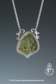 Green Butterfly Wing Pendant