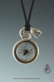 Snake with Spider Necklace