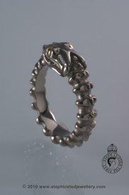 Skeletal Snake Ring