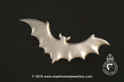 Mother of Pearl Bat Brooch
