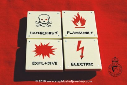 Danger Brooches