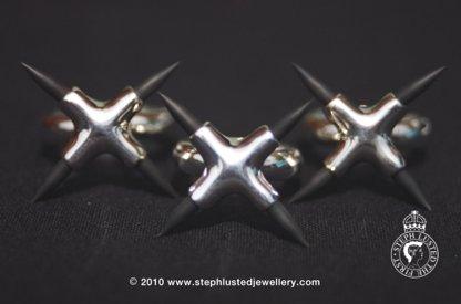 Cross Rubber Spike Rings
