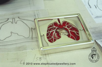 Lungs Brooch Commission