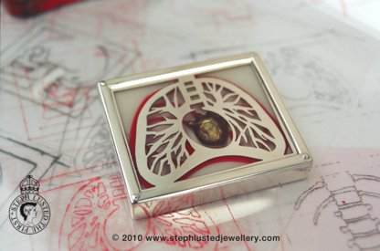 Lungs Brooch/ The human Body Collection