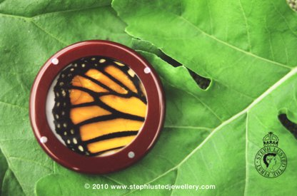 Monarch Wing Brooch