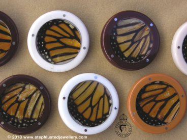 Monarch Wing Brooches