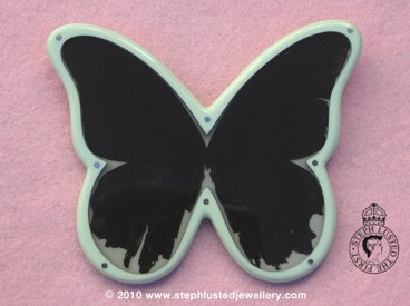 Black Butterfly Brooch