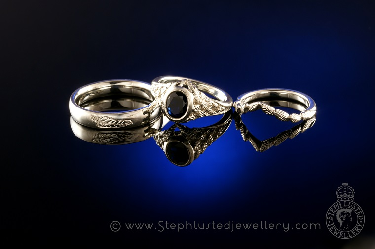 Feather_Wedding_Ring_Set_StephLustedJewellery