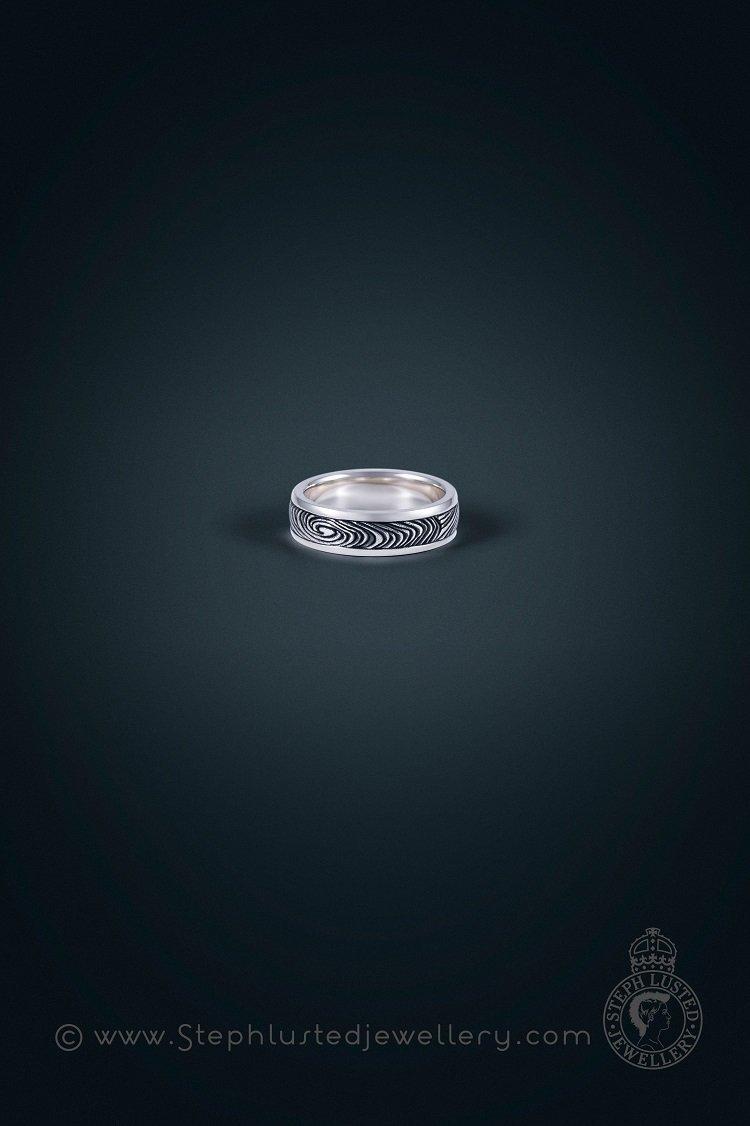Damascus_inspired_Finger_Print_Wedding_Ring