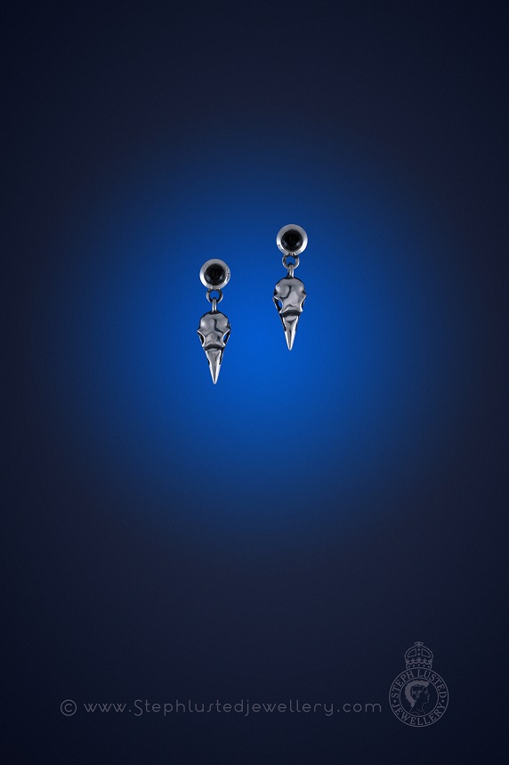 Magpie_Skulls_&_Onyx_Stud_Earrings