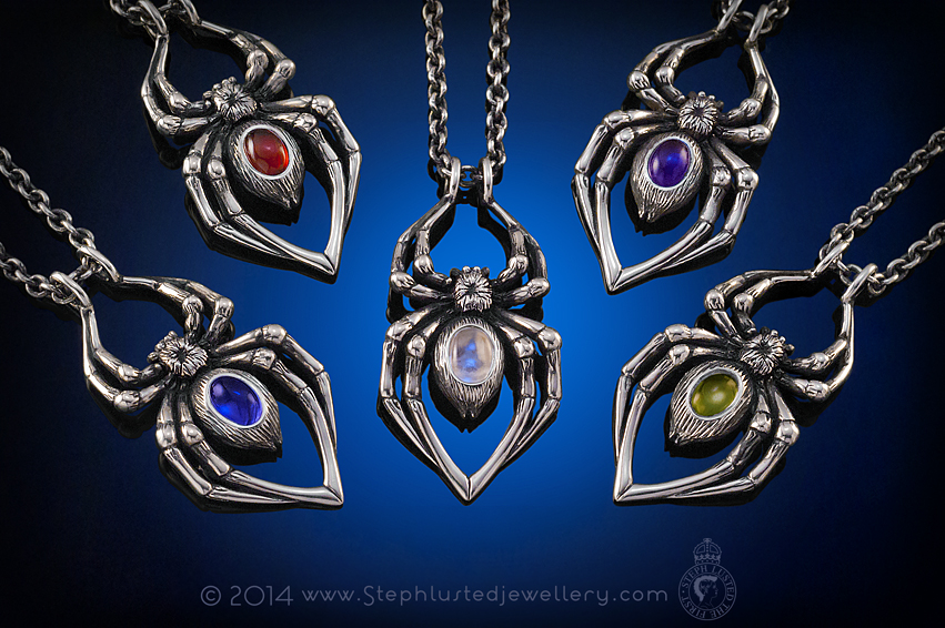 Spider_Pendants_Steph_Lusted_Jewellery