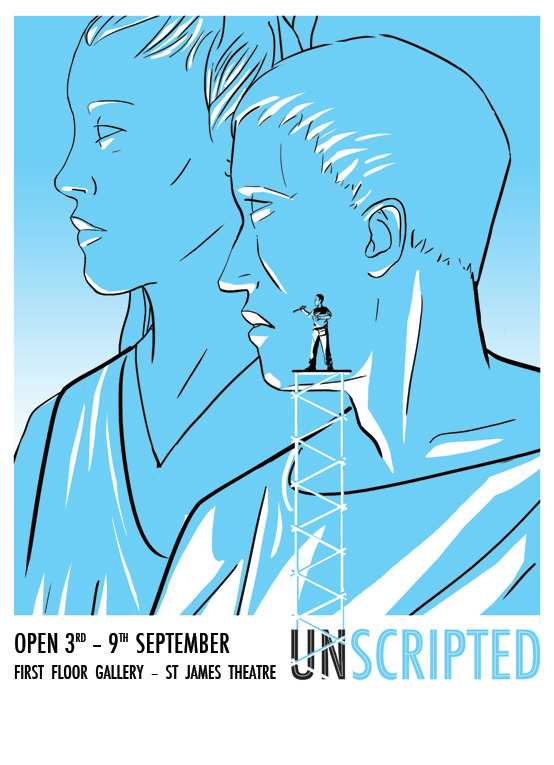 Unscripted Exhibition Poster