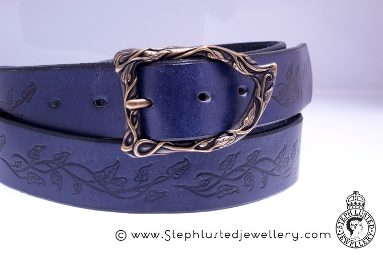 Vine_Leaves_Belt_and_Buckle_Purple