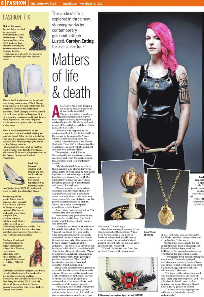 Steph_Lusted_Jewellery_The_Dominion_Post_Article