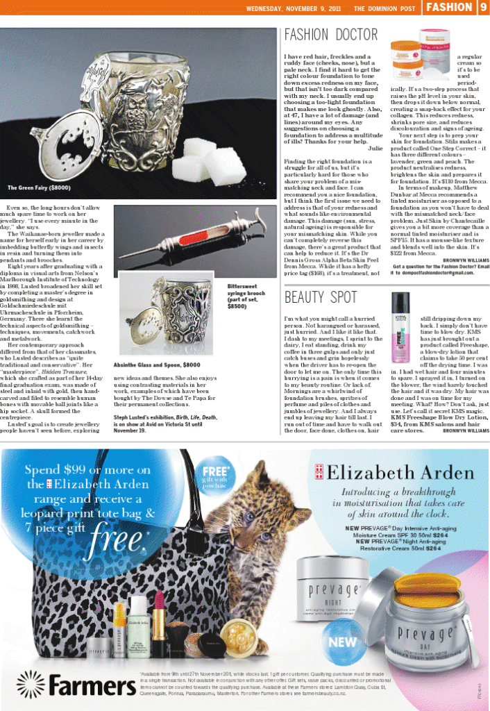 Steph_Lusted_Jewellery_The_Dominion_Post_Article_pg.2