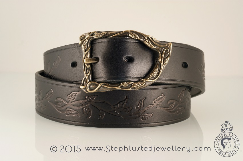 Vine_Leaves_Belt_Buckle_Black