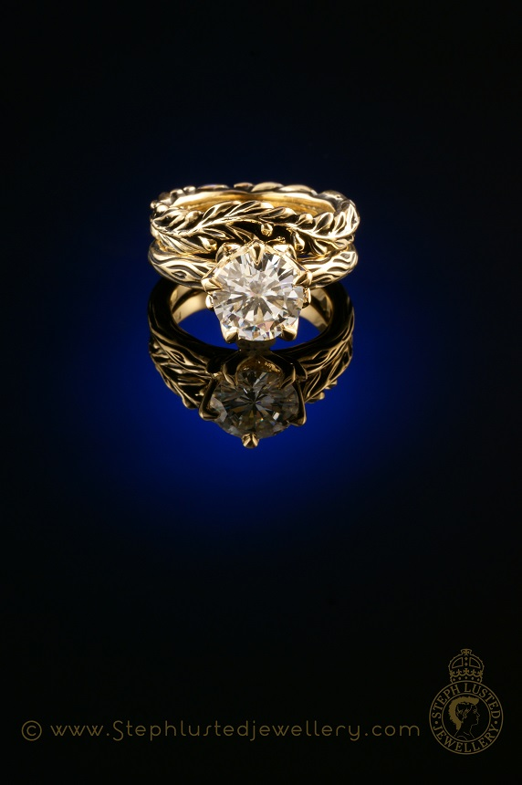 Olive_Branch_&_Lotus_Flower_Engagement_Ring