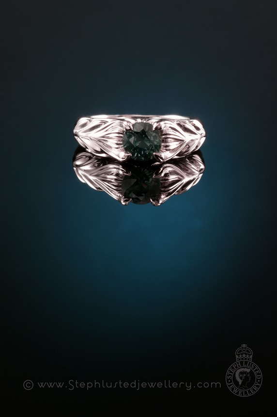 Matai_Leaves_Platinum_Engagement_Ring_StephLustedJewellery
