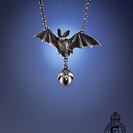 Bat with Pearl Necklace