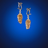 Chrysalis Earrings - Amber