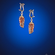 Chrysalis Earrings - Burnt Orange