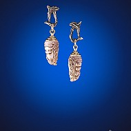 Chrysalis Earrings - Opaque Pink