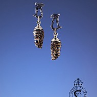 Chrysalis Earrings - Black & Gold
