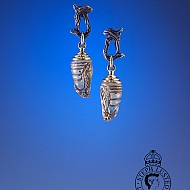 Chrysalis Earrings - Green & Gold