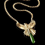 Fantail Necklace - Gold