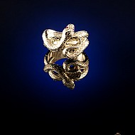 Twisted Snake Ring - Gold
