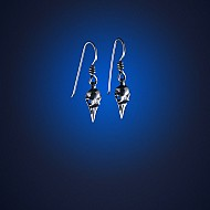 Magpie Skull Hook Earrings