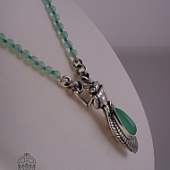 Praying Mantis & Chrysoprase Beads