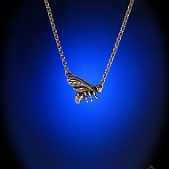 Honey Bee Pendant - Sterling Silver