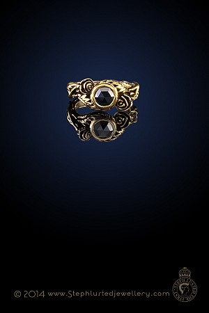 Rose and Thorn Ring - Gold