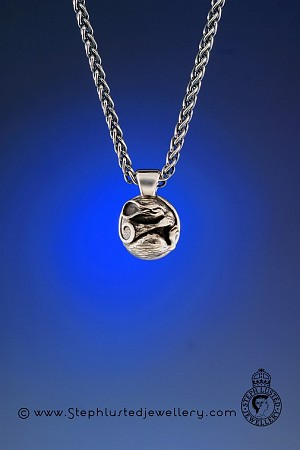 Field Mouse Pendant - Silver