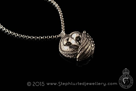 Barn Owl Necklace - Silver